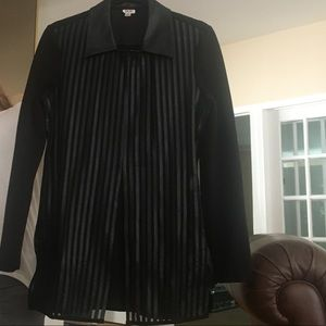 Cache Leather Like Stripe Front Blazer (8)